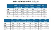 Schlumberger's Relative Valuation versus Its Peers
