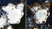NASA images reveal dramatic effects of heat in Antarctica