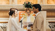 Doctor and nurse marry in hospital chapel after cancelling summer wedding due to coronavirus