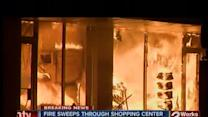 Fire at south Tulsa shopping center