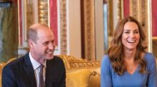 Kate Middleton Returns to Buckingham Palace in a Gorgeous Blue Dress