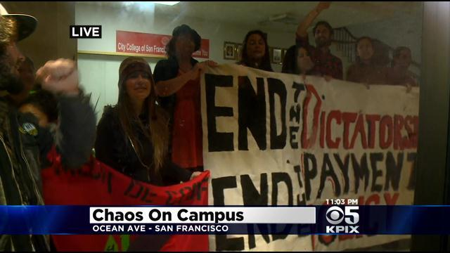 Protesters Clash With Police At City College Of San Francisco