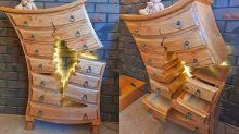 Falegname diventa una star, i suoi mobili sembrano usciti da un film Disney