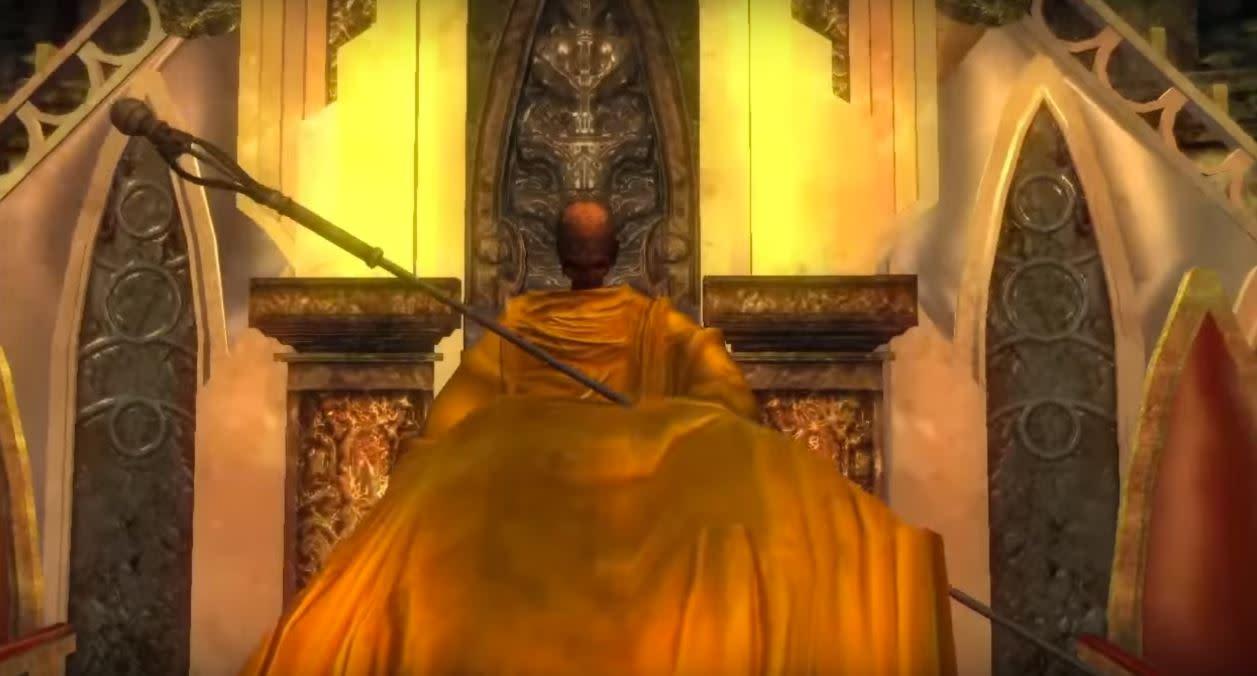 宮崎英高最喜歡的 BOSS 是惡魔靈魂中的老和尚。(圖源:Demon's Souls)