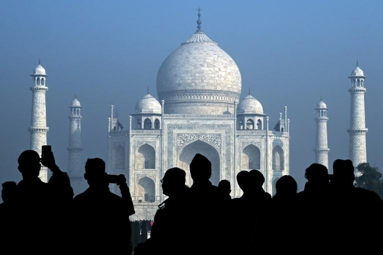The world-famous white marble mausoleum is India's most popular tourist site