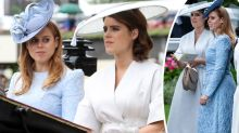 Princesses Beatrice and Eugenie lead stylish royals at Ascot