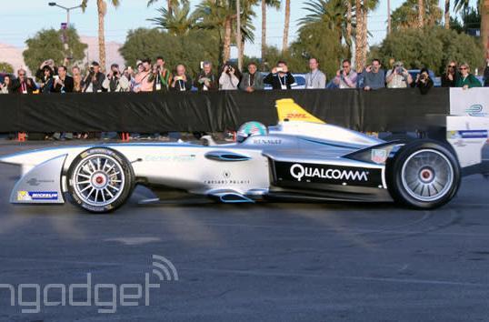 Formula E's Spark-Renault SRT_01E electric racer makes its official public debut in Las Vegas
