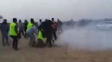 Tear Gas Fired on Crowds During Fourth Week of Demonstrations