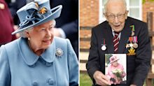 Queen's personal message to Captain Tom Moore revealed in 100th birthday card