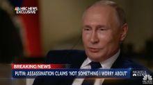 """""""¿Es usted un asesino?"""": la pregunta que ha hecho reír a Putin durante una entrevista"""