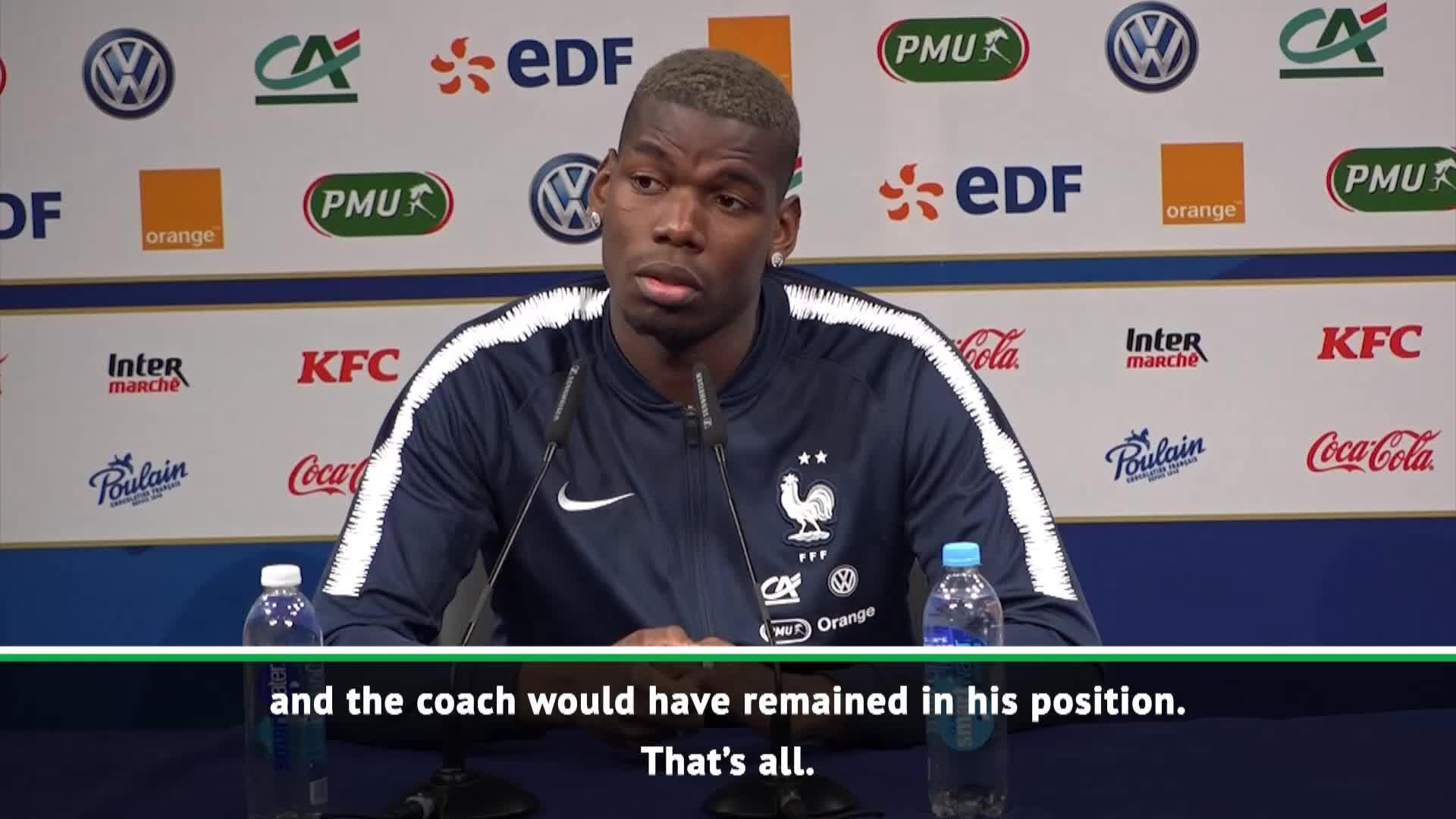 If we were winning, Mourinho would have stayed at Man United! - Pogba