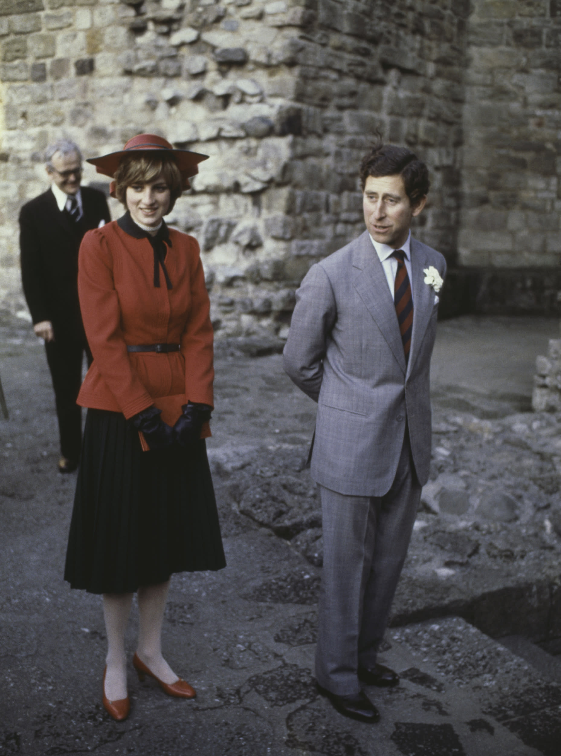 Diana pictured with Charles.