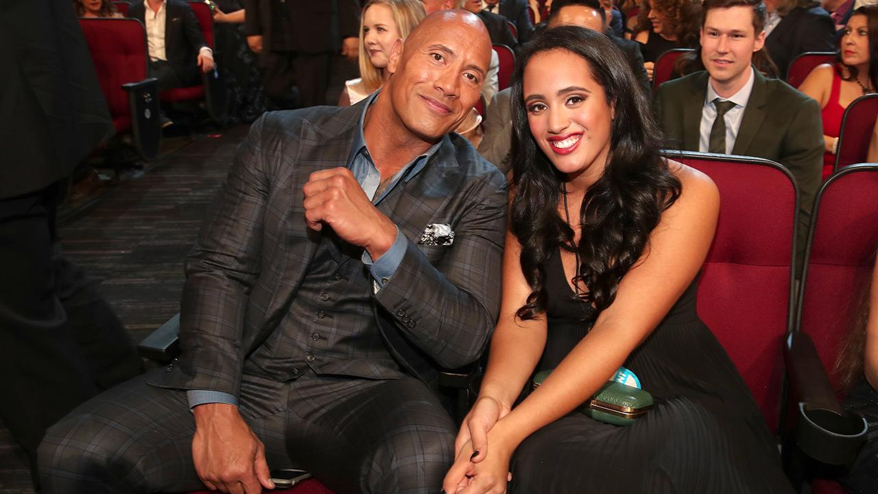 Dwayne Johnson Goes on Adorable Father-Daughter Date With Eldest Child Simone at People's Choice Awards -- Pics!