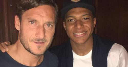 Foot - WTF - Quand Kylian Mbappé croise Francesco Totti au Masters de Monte-Carlo