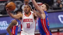 Rockets withstand final review in 103-102 win over Pistons