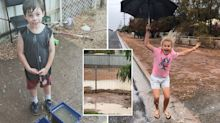Dancing in the rain: Drought-stricken residents rejoice as heavens open up