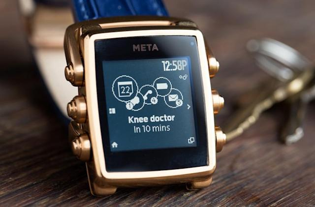 Smartwatch pioneer Meta returns with a premium alternative to Pebble