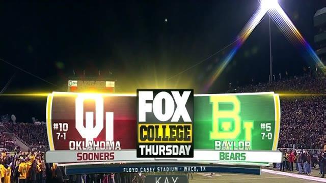 11/07/2013 Oklahoma vs Baylor Football Highlights
