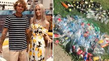 Woman aims to pay for wedding by collecting more than 800,000 bottles and cans