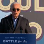Joe Biden appears to call pro-Trump protesters 'ugly' at Minnesota rally