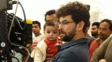 Cute Alert!  Nurvi Accompanies Papa Neil Nitin Mukesh to Work
