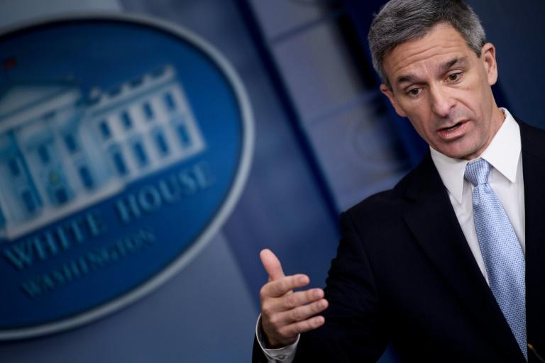 Acting Director of US Citizenship and Immigration Services Ken Cuccinelli announced changes to immigration policy at the White House (AFP Photo/Brendan Smialowski)