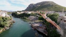 Daredevil divers plunge from Bosnian bridge in centuries-old tradition