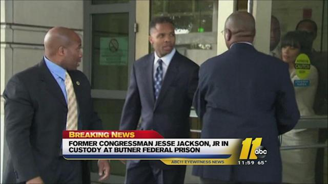 Jesse Jackson, Jr. reports to Butner Correctional Facility