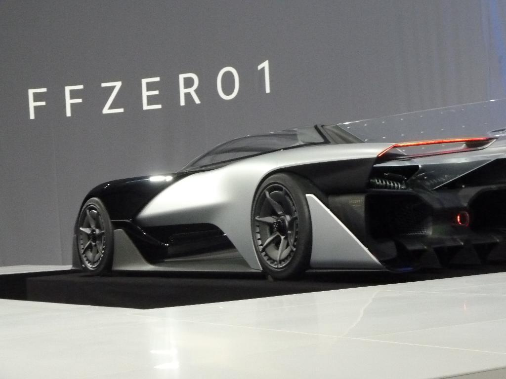 The FFZERO1 concept car was unveiled by California startup Faraday Future during the Consumer Electronics Show (CES) in Las Vegas, on January 4, 2016 (AFP Photo/Rob Lever)