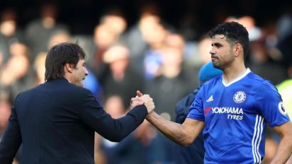 Antonio Conte insists he would have 'no problem' shaking Diego Costa's hand after Chelsea exit