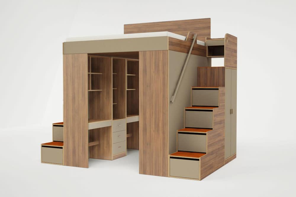 Urbano king loft bed. (Roberto Gil)