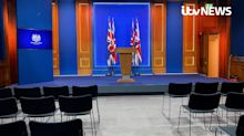 Government mocked over lectern blunder in new £2.6m press briefing room
