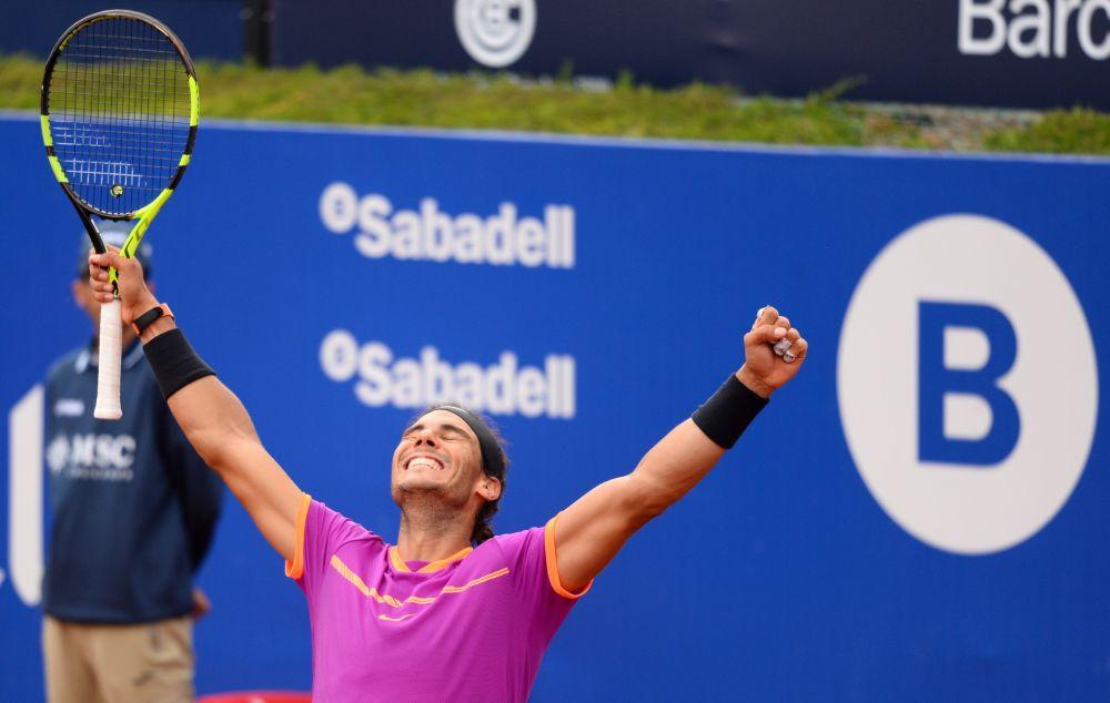 Rafael Nadal remporte son dixième titre à Barcelone.