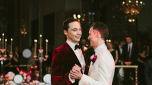 El precioso álbum de fotos de la boda de Jim Parsons (Sheldon en 'The Big Bang Theory')