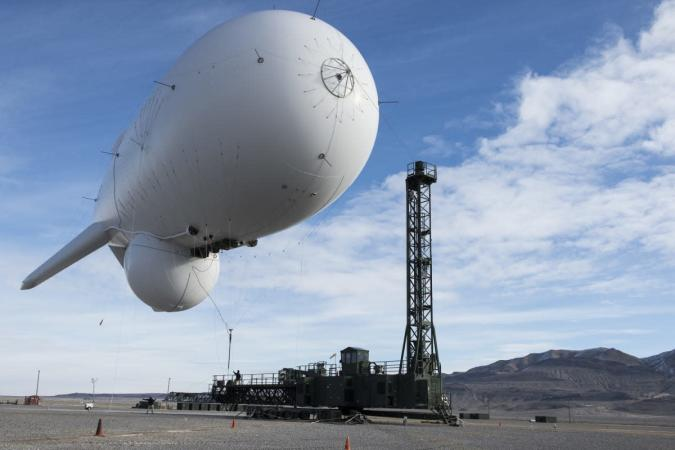 Runaway blimp prompts the US to freeze a missile defense program