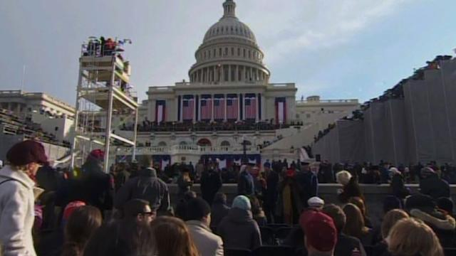 US President Obama inaugurated for second term