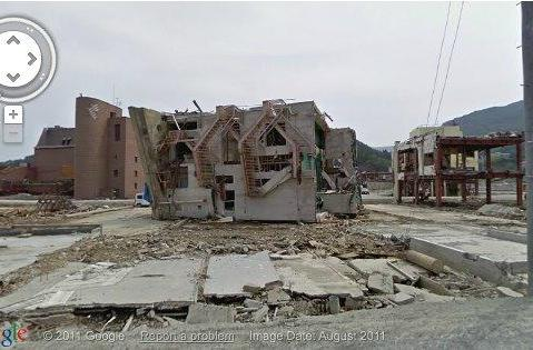 Google's new Street View feature provides eerie glimpse of post-tsunami Japan