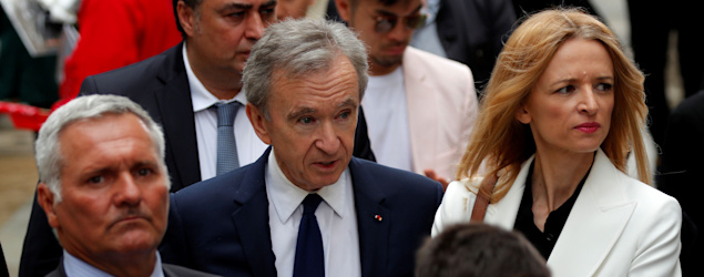 Bernard Arnault, center. (Reuters)