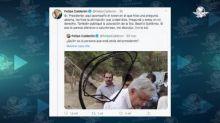 """Se """"disculpa"""" Calderón con AMLO; acepta tregua para atender pandemia"""
