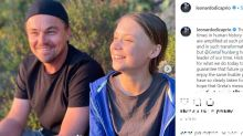 """Leo DiCaprio, selfie con Greta Thunberg: """"Un onore conoscerla"""""""
