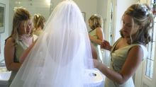 Bride's genius hack for going to the toilet in her wedding dress has gone viral