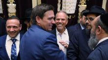 DeSantis signs two bills in Surfside synagogue, emphasizes his support of Israel