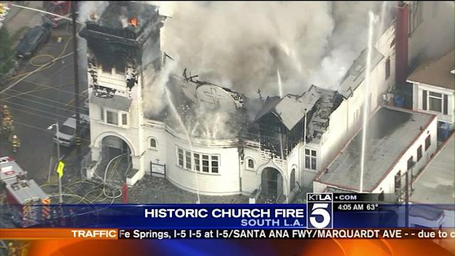 Historic South L.A. Church a Total Loss After Fire