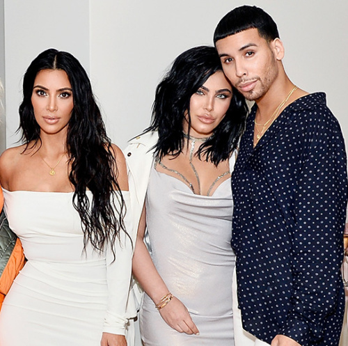 Rob Scheppy, Joyce Bonelli, Kim Kardashian West , Hrush Achemyan and Ariel Tejada celebrate The Launch Of KKW Beauty