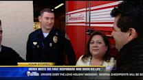 Driver meets the first responders who saved his life
