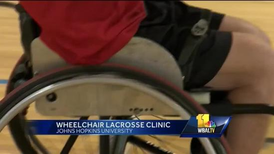 Kennedy Krieger hosts wheelchair lacrosse clinic