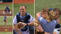Soldier surprises daughter at Tampa Bay Rays game