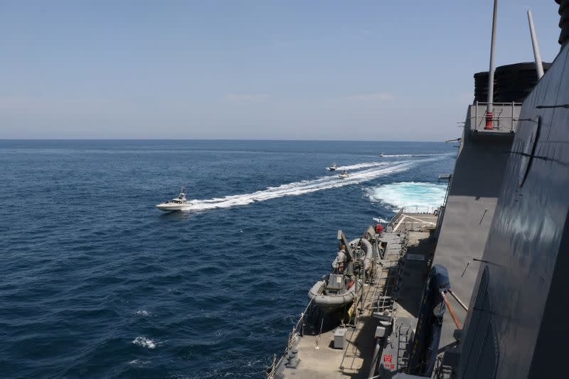 Iran ships make 'harassing' maneuvers at US ships