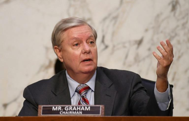Senate Judiciary Committee Chairman Senator Lindsey Graham leads the confirmation hearings for Supreme Court nominee Amy Coney Barrett