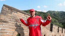 Alex Ovechkin toboggans down Great Wall, feasts while in China